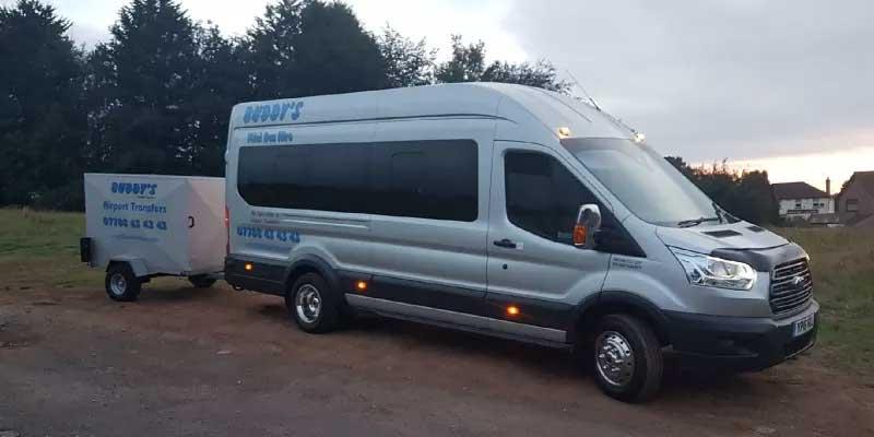 Silver minibus